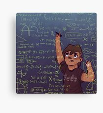 Romy + Math Canvas Print