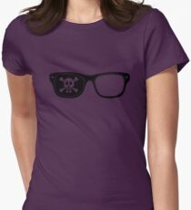 Hipster Pirate Womens Fitted T-Shirt