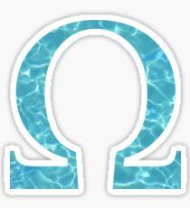 Omega Tropical Water Blue Greek Sorority Sticker
