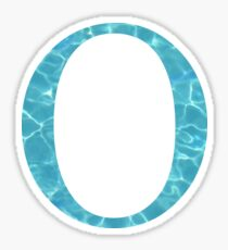 Omicron O Tropical Water Blue Greek Sorority Sticker