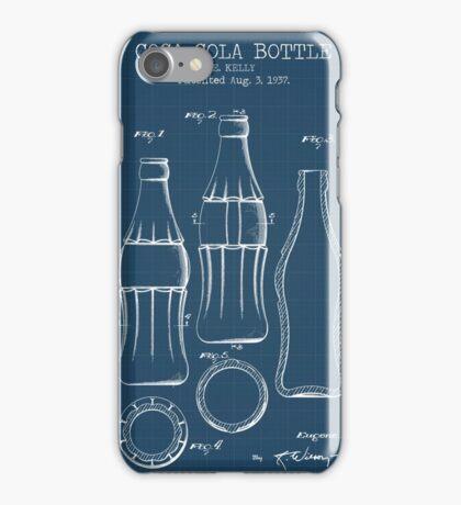 Coca Cola Bottle Blueprint iPhone Case/Skin