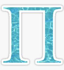 Pi Tropical Water Blue Greek Sorority Sticker
