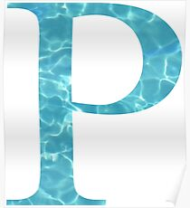 Rho P Tropical Water Blue Greek Sorority Poster