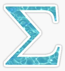 Sigma Tropical Water Blue Greek Sorority Sticker