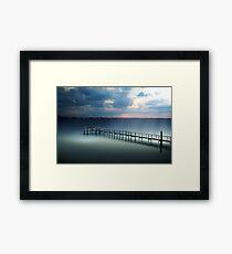 Spotlight on a Pier Framed Print