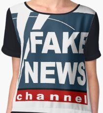 Fake News Channel Chiffon Top