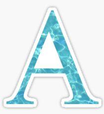 Alpha A Tropical Water Blue Greek Sorority Sticker