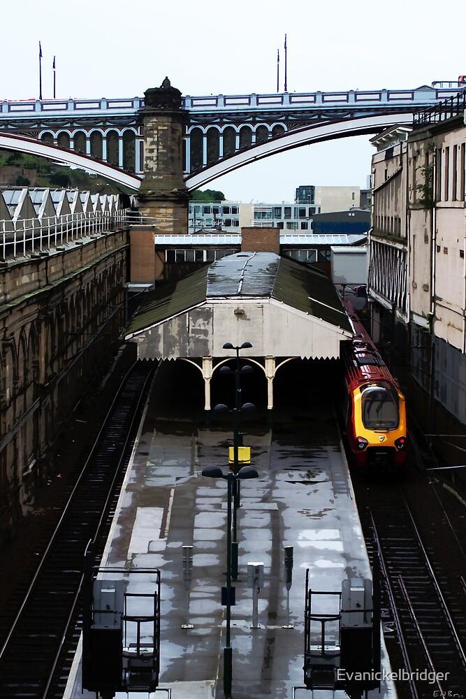 Train and Tracks by Evanickelbridger