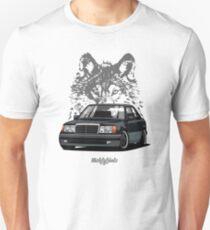 Mercedes-Benz 500 E (W124) (black) T-Shirt