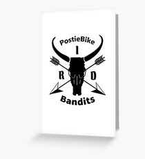 Postie Bike Bandits T's Greeting Card