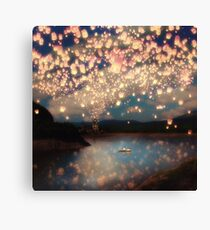 Wish Lanterns for Love Canvas Print
