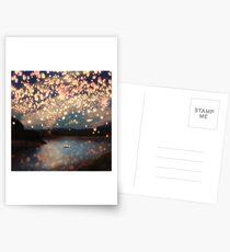 Wünsche Laternen für die Liebe Postkarten