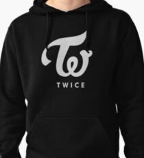 twice silver logo Pullover Hoodie
