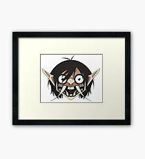 Demon Titan Eren Framed Print
