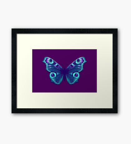 Purple and Teal Butterfly Framed Print