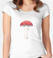 Amanita muscaria (Fly Amanita) Women's Fitted Scoop T-Shirt