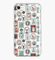 Christmas Portraits - White Background by Andrea Lauren iPhone Case/Skin