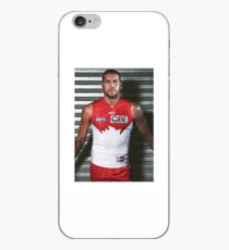 Buddy Franklin in Rot und Weiß iPhone-Hülle & Cover
