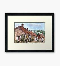 Gold Hill Shaftesbury Dorset Framed Print