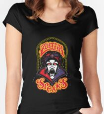 Zoltar Speaks Big - Red Variant Women's Fitted Scoop T-Shirt