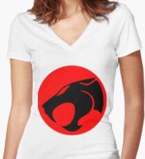 Logo Thundercats Women's Fitted V-Neck T-Shirt
