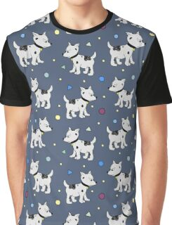 Happy Birthday Party seamless pattern with pupies, dogs Graphic T-Shirt