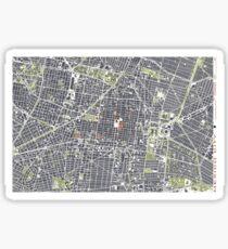 Mexico City map engraving Sticker
