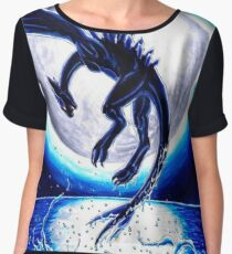 Lugia Dark Pokemon XD Women's Chiffon Top