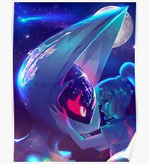 Lunala and Lillie Pokémon Moon Poster