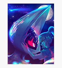Lunala and Lillie Pokémon Moon Photographic Print