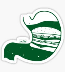 Food in My Stomach - Burger Sticker