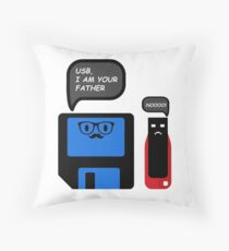 USB I Am Your Father Throw Pillow