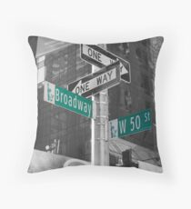 This Way To Broadway Throw Pillow