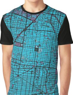 Mexico City map twilight Graphic T-Shirt