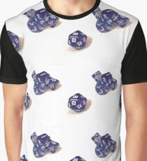 Blue Dice Pattern  Graphic T-Shirt