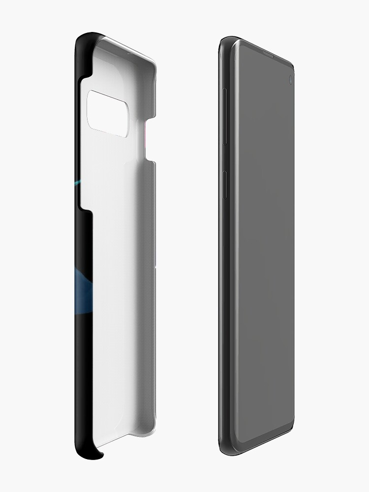 Alternative Ansicht von Blumenschädel Blau Hülle & Klebefolie für Samsung Galaxy