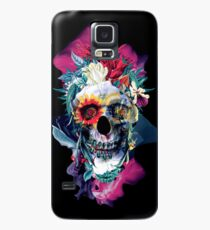 Floral Skull Blue Case/Skin for Samsung Galaxy