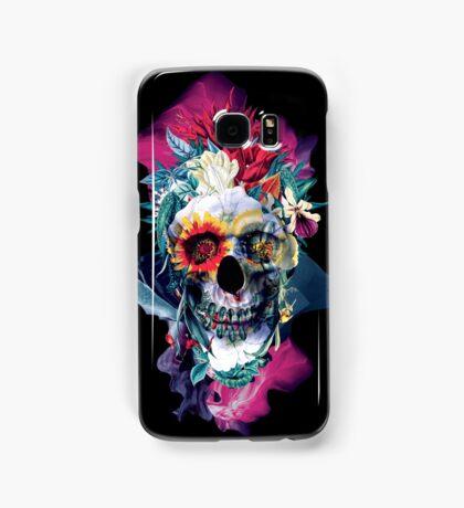 Floral Skull Blue Samsung Galaxy Case/Skin