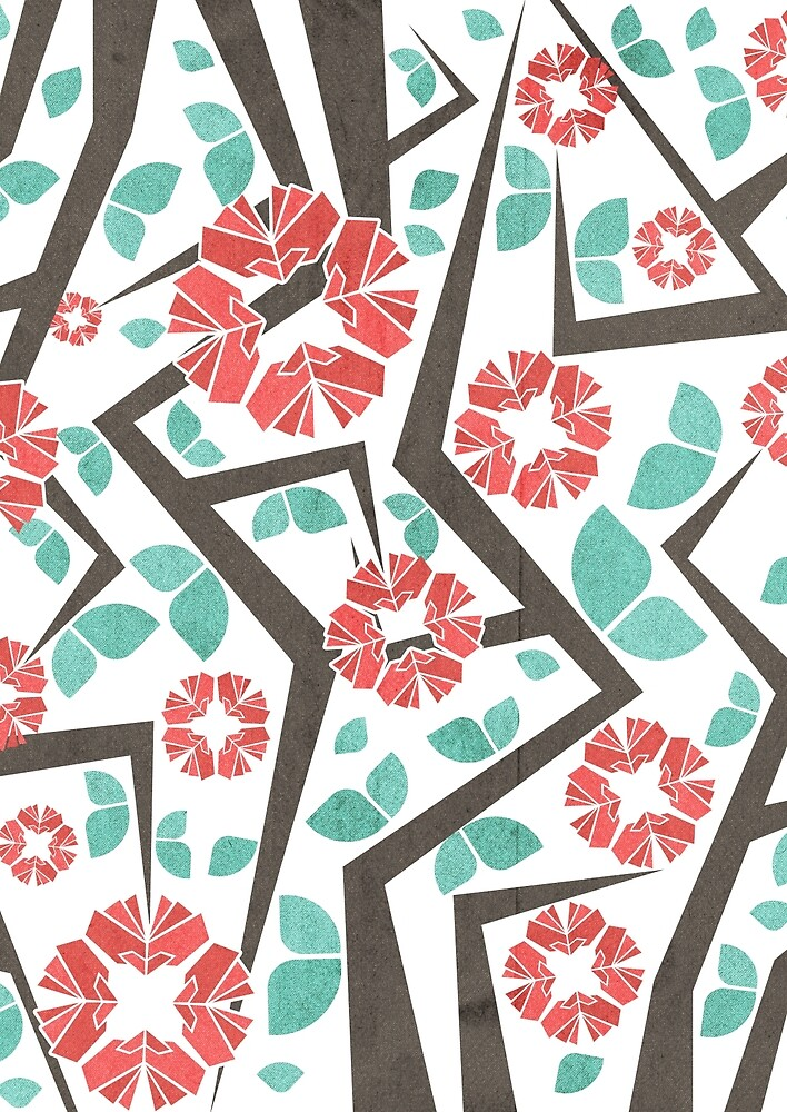 Blooming Trees Pattern IV by VessDSign
