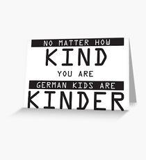Funny German Kids Sticker Greeting Card