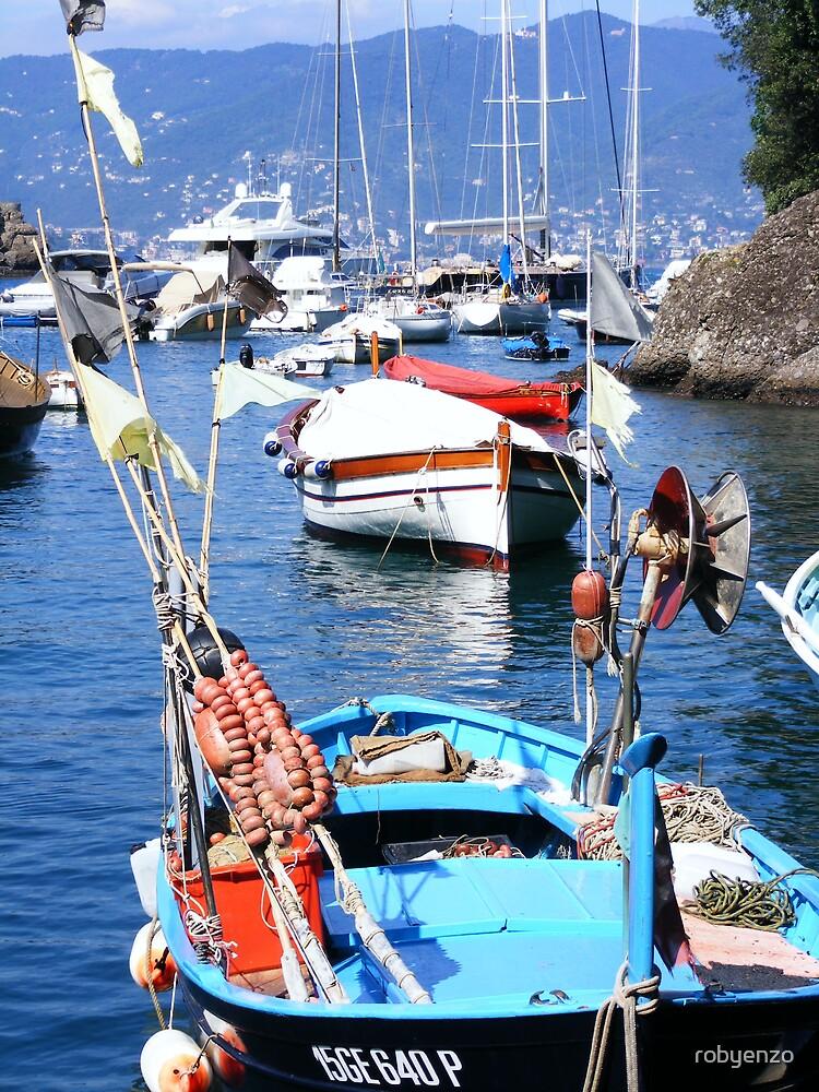 Fishing beauty in Portofino by robyenzo