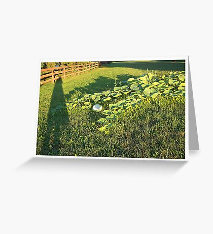 Only the Shadow Knows Greeting Card