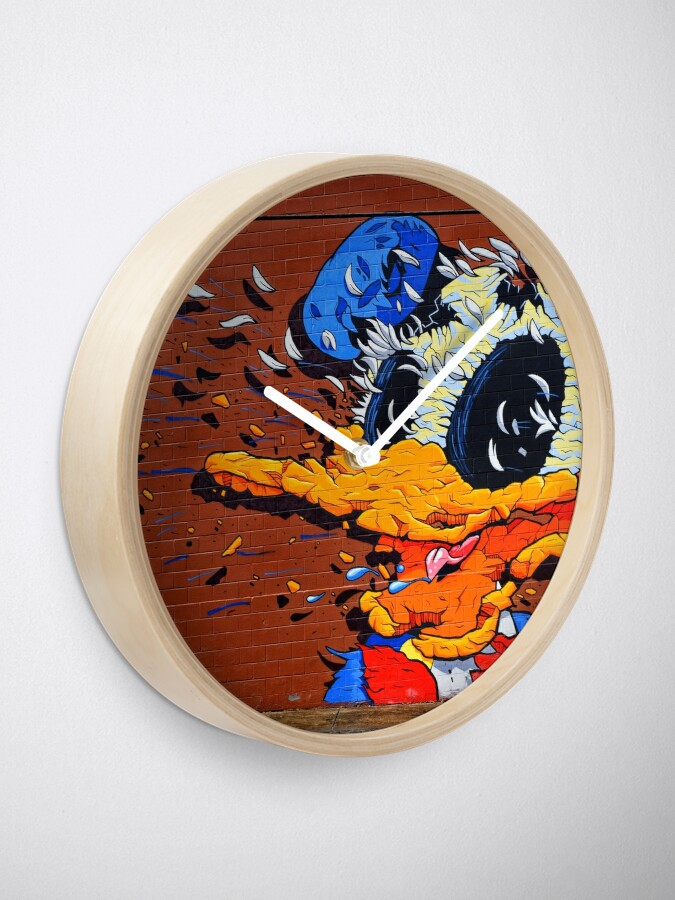 Alternate view of Donald Duck - Artist Matt Gondek - Atlanta Graffiti  Clock