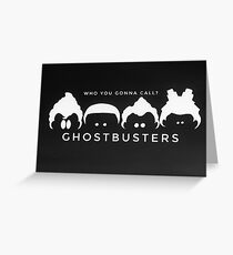 Ghostbusters B&W Greeting Card