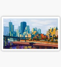 GTA IV Cityscape, Late Afternoon Sticker