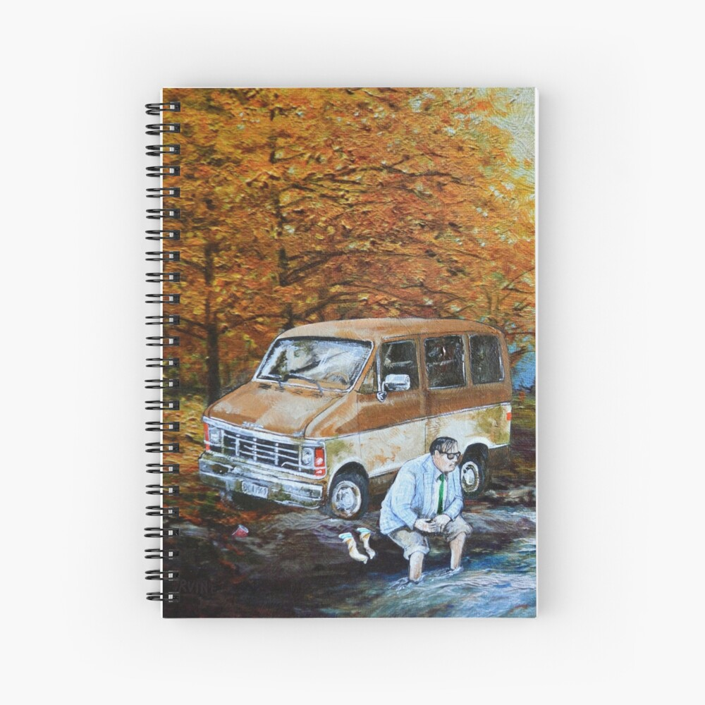 Living in a Van Down by the River Spiral Notebook