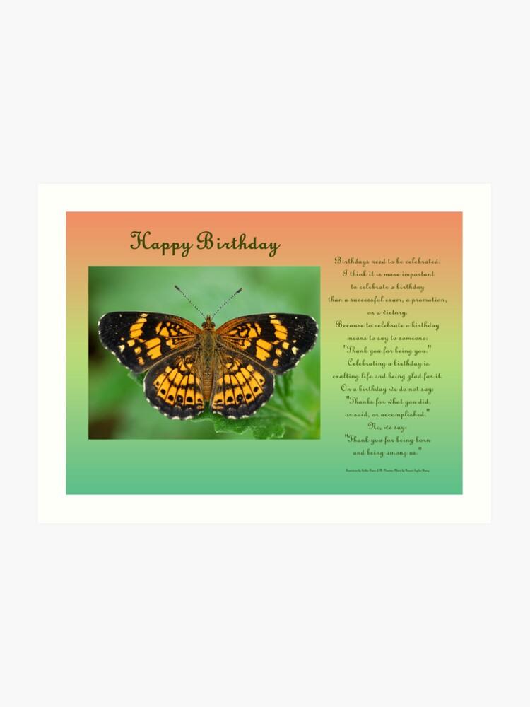 Happy Birthday Greeting Card | Art Print