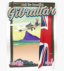 Beautiful Gibraltar Travel poster Poster