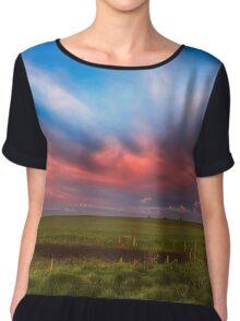 Prairie Skies Chiffon Top