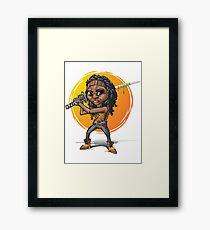 Michonne-Karikaturart Gerahmtes Wandbild